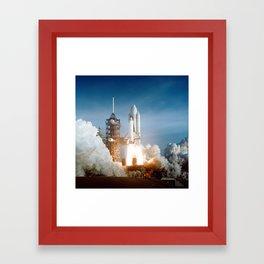 First Space Shuttle Launch Framed Art Print