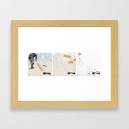 Outline of Subconscience. Framed Art Print