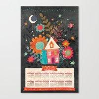 calendar 2015 Canvas Prints featuring Love & Dreams - 2015 Calendar by Jennifer Wambach