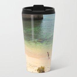 Run on the beach Travel Mug