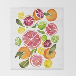 All the Citrus Throw Blanket