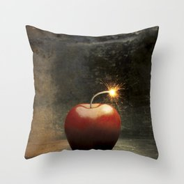 Apple bomb Throw Pillow