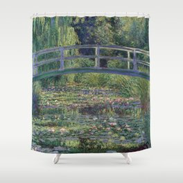 Water Lilies and the Japanese Bridge by Claude Monet Shower Curtain