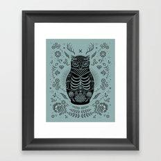 Owl Nesting Doll (Matryoshka) Framed Art Print