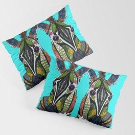 zebra love turquoise Pillow Sham