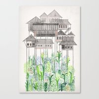 Canvas Prints featuring Stilts by David Fleck