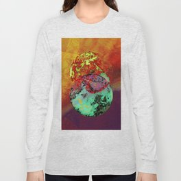 old map of a foreign world far away Long Sleeve T-shirt