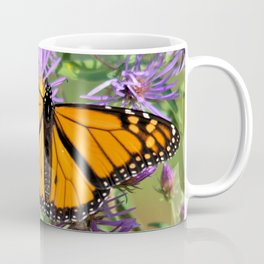 Monarch Butterfly on Wild Aster Flower Coffee Mug