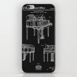 Piano Patent - Black iPhone Skin