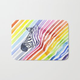 Animal Zebra Rainbow Bath Mat