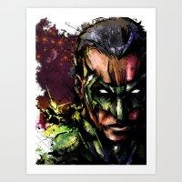 green lantern Art Prints featuring Green Lantern by Vincent Vernacatola