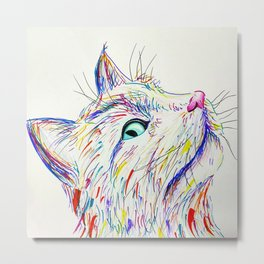 Color Cat Metal Print