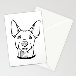 Miniature Pinscher Portrait Stationery Cards