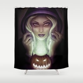 Halloween Hex Shower Curtain