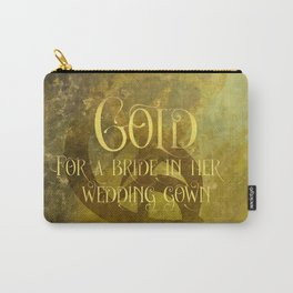 GOLD for a bride in her wedding gown. Shadowhunter Children's Rhyme. Carry-All Pouch
