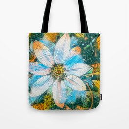 Clematis AI Blue Field Tote Bag