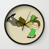 psych Wall Clocks featuring Psych! by AriesNamarie