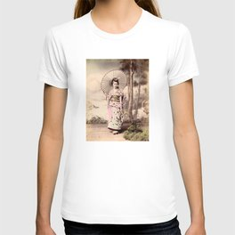 Japanese girl with parasol T-shirt