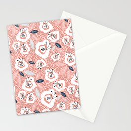 flowers and leave on blush pink Stationery Cards