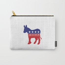 Nebraska Democrat Donkey Carry-All Pouch