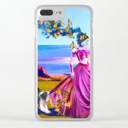 Robot Painting: Singularity Dream Clear iPhone Case