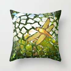 Fly High Dragonfly. Throw Pillow