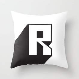 SUPER R Throw Pillow