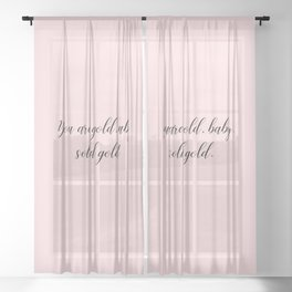 Solid Gold Sheer Curtain