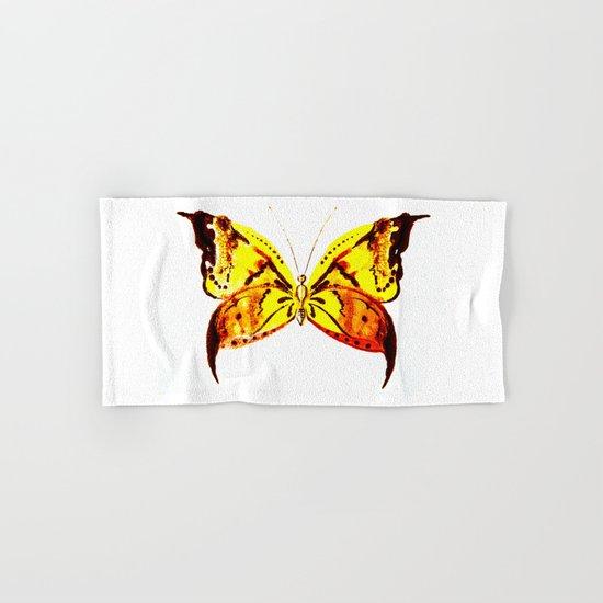 yellow butterfly Hand & Bath Towel