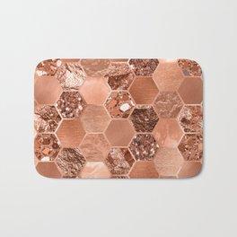 Rose gold hexaglam blonde Bath Mat