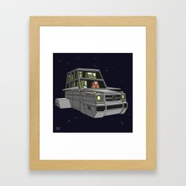 Space car Framed Art Print