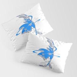 Blue Sonic  Pillow Sham