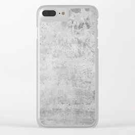 concrete wall vintage grey background,  wall texture * Clear iPhone Case