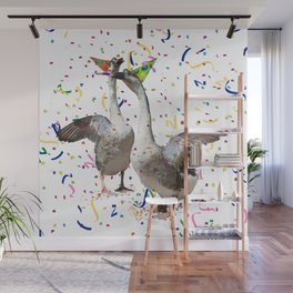 Partying Geese Wall Mural