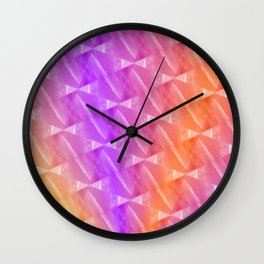 Rainbow Sherbet Wall Clock