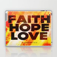 Faith,Hope,Love Laptop & iPad Skin