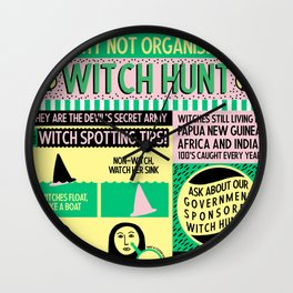 Witches Alive Today Wall Clock