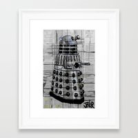 dalek Framed Art Prints featuring Dalek by LouiJoverArt