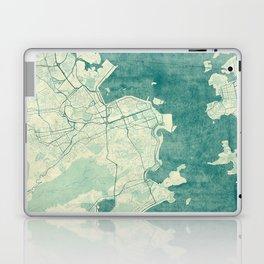 Rio de Janeiro Map Blue Vintage Laptop & iPad Skin