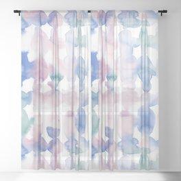 Dye Ovals Pastel Wandering Sheer Curtain