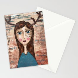 Coco's Closet- She is happy being She Stationery Cards