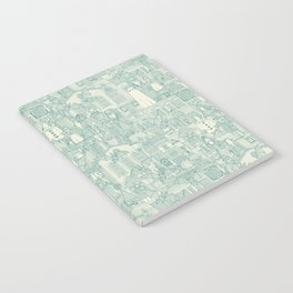 vintage halloween teal ivory Notebook