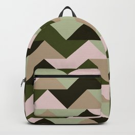Triangles abstract earth colors Backpack
