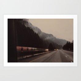 Train through the Mountain Art Print