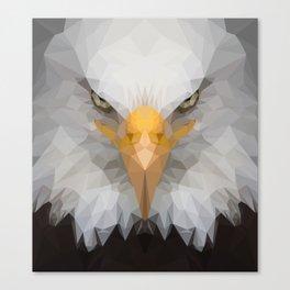 Low Poly Eagle Portrait Canvas Print
