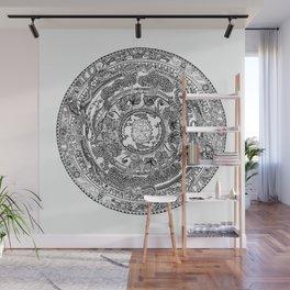 An Island Mandala - PEI, Canada - Original Colors - Black on White Wall Mural