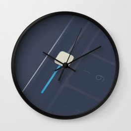 Close up of the volume bar on a keyboard Wall Clock