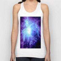 nebula Tank Tops featuring NEBula Purple Periwinkle Blue by GalaxyDreams