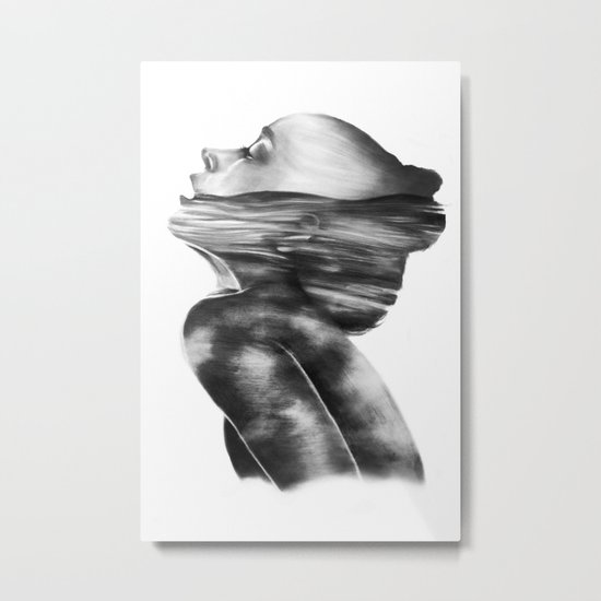 Dissolve // Illustration Metal Print
