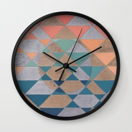 Circles and Triangles Wall Clock